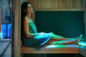 chromotherapy, infrared sauna
